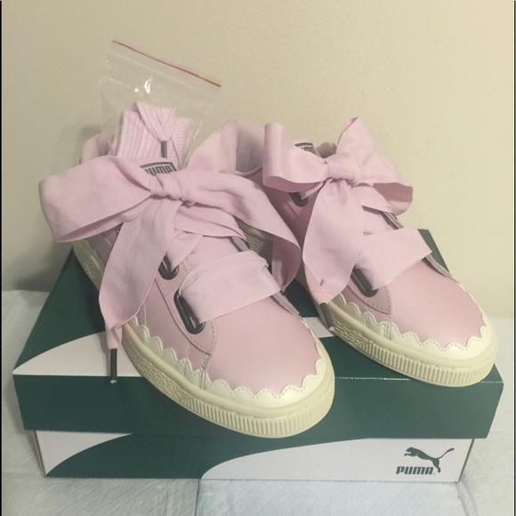 new arrival 93573 82e69 Puma Basket Heart Scallop Sneakers 8